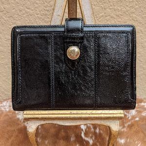 Vintage Coach Black Patent Leather Wallet